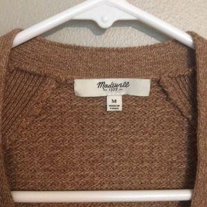 Tan madewell cardigan